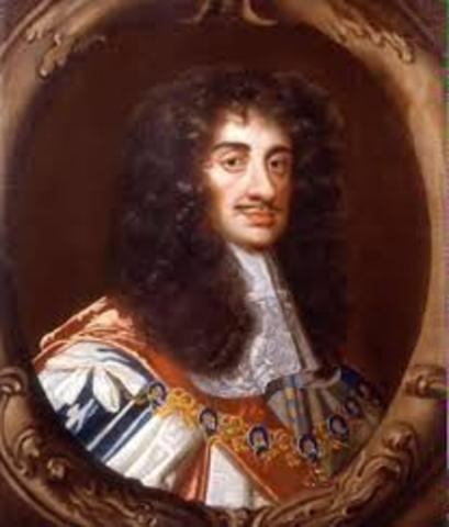 Charles II became the King of England (thus beginning the Restoration)