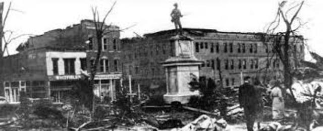 (1903) Tornado hit Gainesville