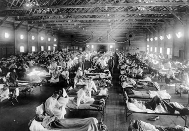 (1918) Spanish flu struck; thousands died