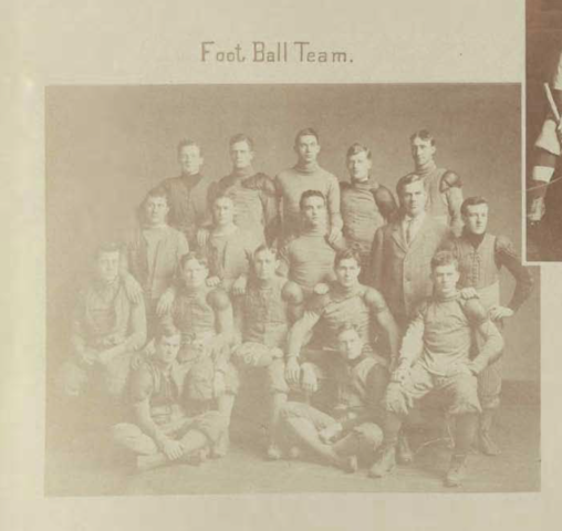First Football Team in Yearbook