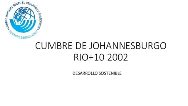 Cumbre mundial sobre el desarrollo sostenible (Río+10)