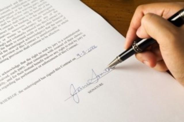 Szerződés, anyagi javakról való megegyezés