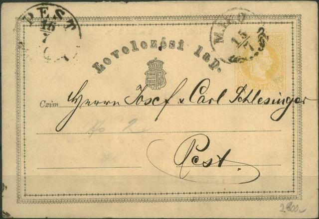 A világ első postai levelezőlapja
