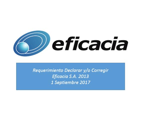 Requerimiento Declarar y/o Corregir 2013