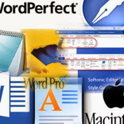Historia de el procesador de texto timeline