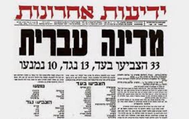 """החלטת האו""""ם על הקמת מדינת ישראל"""