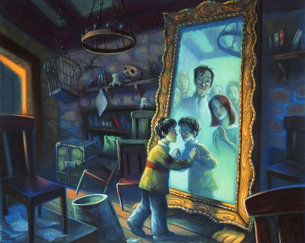 Harry discovers the Mirror of Erised