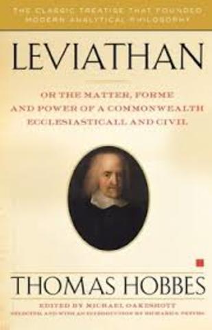 Thomas Hobbes pubished Leviathan - a social contract.