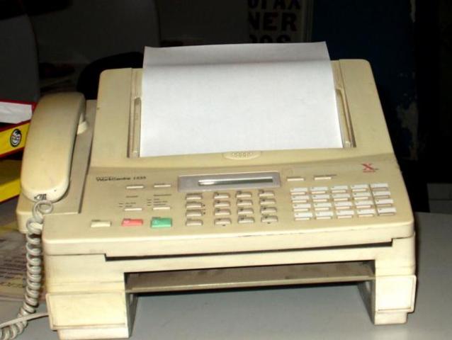 1º fax