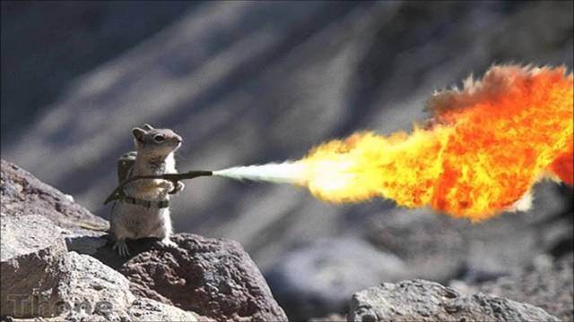 First flamethrower