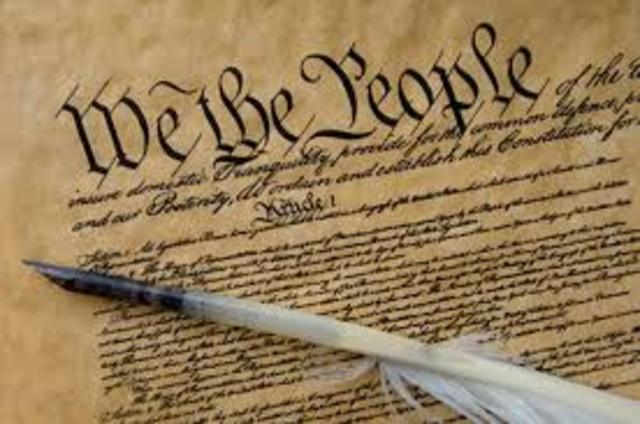 The U.S. enacted the Constitution - establishing a federal system, separation of powers, checks and balances.