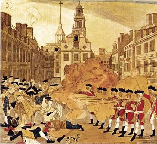 La Masacre de Boston. (Incidente en King street).