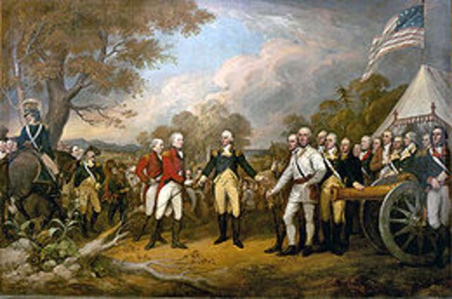 Inicio de la Guerra de Independencia de los Estados Unidos.