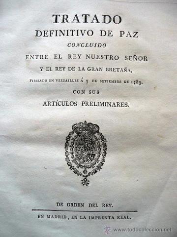 Tratado de Versalles. (Independencia de Estados Unidos).