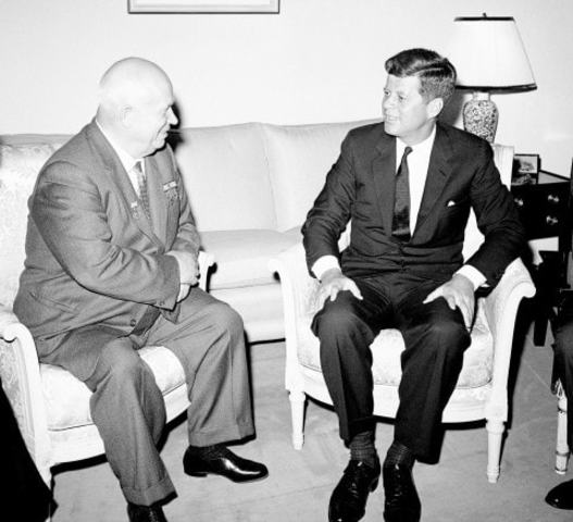 JFK meets with Khrushchev in Vienna