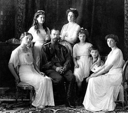 Czar Nicholas II and his family are executed