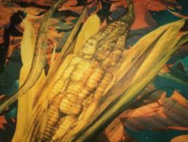 Escribió Hombres de maíz