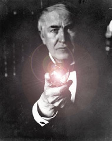 Edison invents the light
