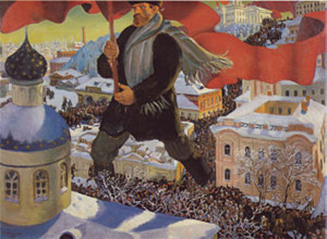The October Revolution - the Bolsheviks take over Petrograd