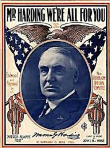 President Harding's Return to Normacy