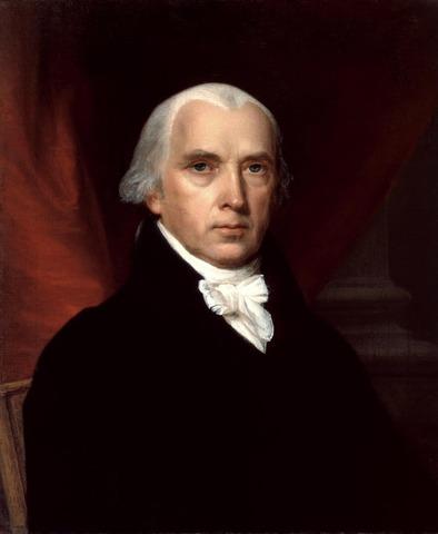 James Madison elected president.
