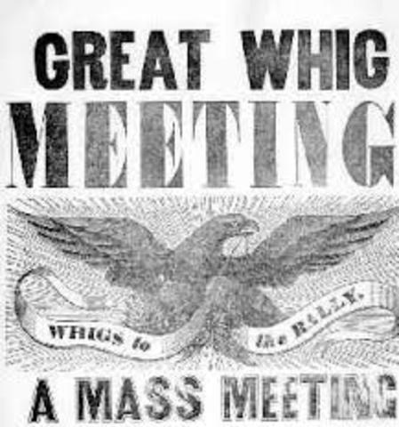 Creation of the Whig Party in the USA