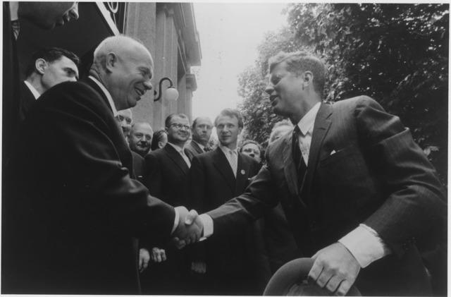 JFK meets Khrushchev