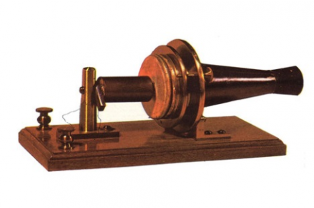 The first telephone.