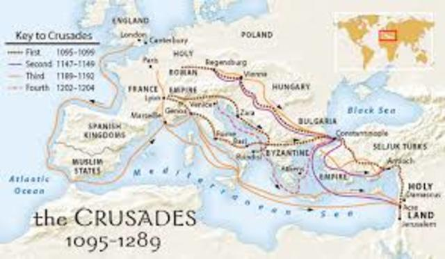 the history of crusades since 1095 History notes on the crusades, fought between european christians and  muslims for the holy land  (some say the first crusade started in 1096,  instead of 1095) christians recapture  the mediterranean lands after 1204  map of the.