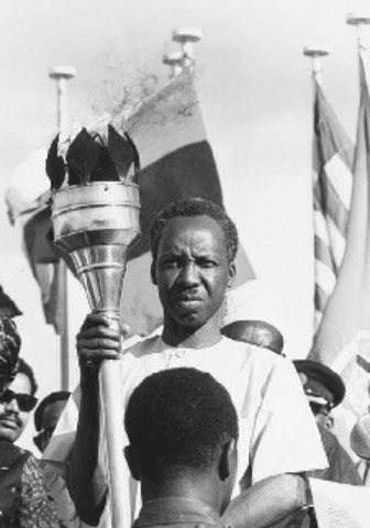 Mr.Nyerere is elected president one year after Tanzania gains full independence.