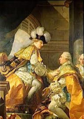 Louis XVI gets crowned king of France