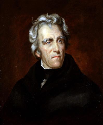 Andrew Jackson elected president.