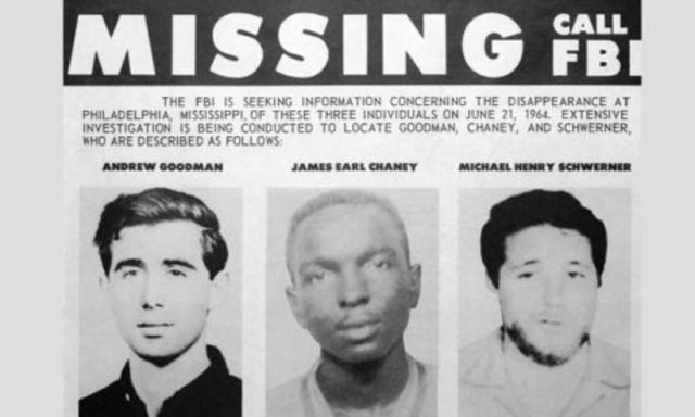 Micheal Schwerner, James Chaney, and Andrew Goodman are murdered