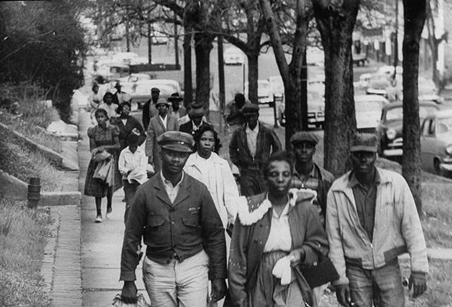 Martin Luther King Jr. organizes the Montgomery Bus Boycott