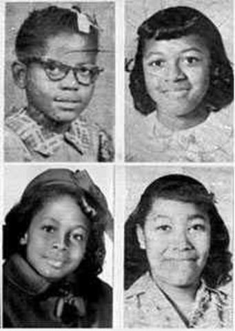 Four young black girls are killed in the 16th Street Baptist Church bombing