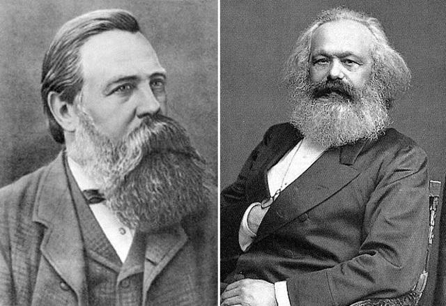 Karl Marx (1818-1883) y Frederic Engels (1820-1895)