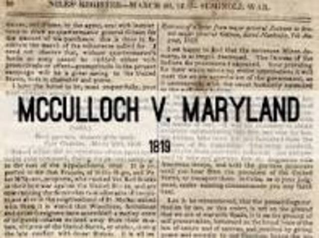 McCulloch vs. Maryland(TAJ)