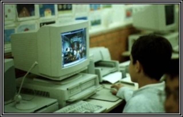 Estreia da internet na escola