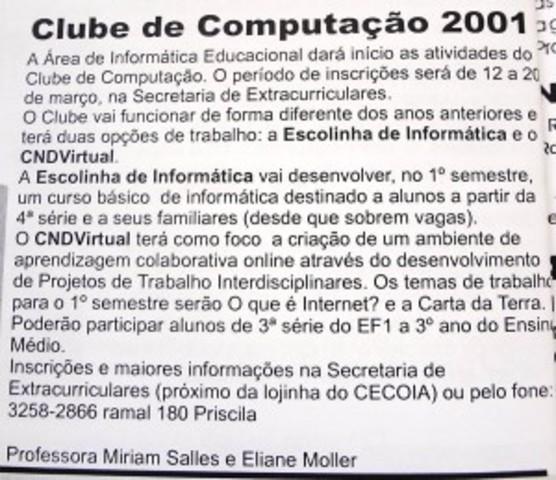 CND Virtual e Escolinha de Informática