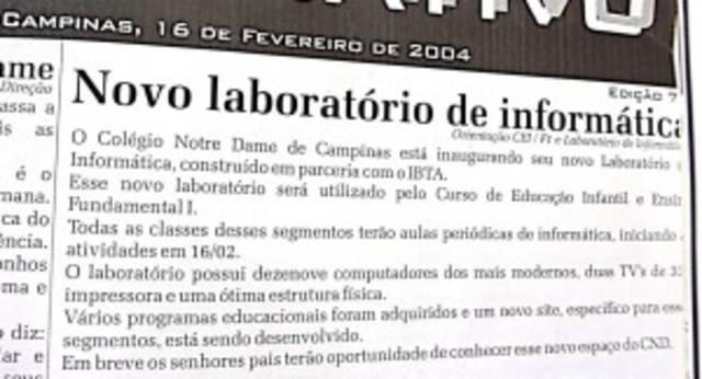 Laboratório de Informática do EF1