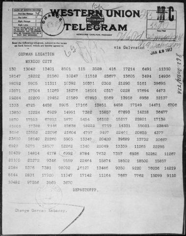 •Zimmerman Telegram