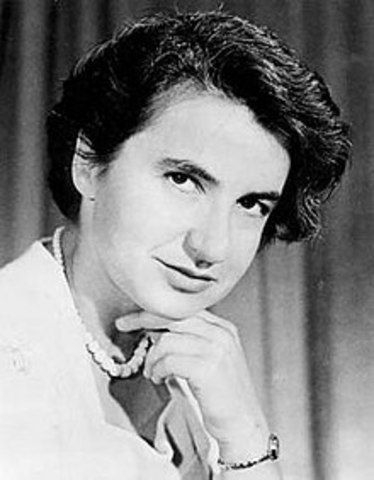 "Rosalind Franklin works with DNA and X-Ray crystallography and develops ""Image 51"""