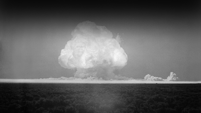 First Nuclear Bomb Tested