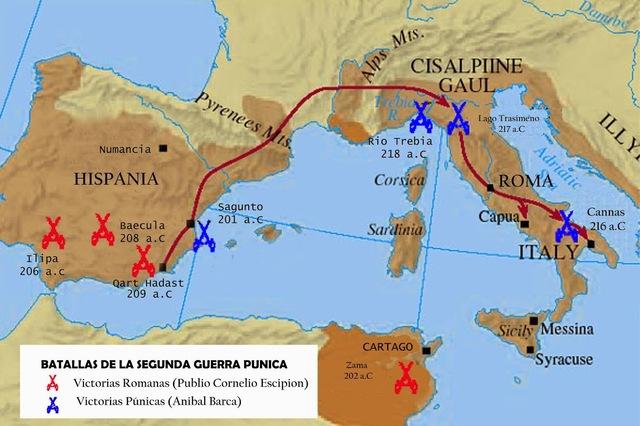 Desembarco de los romanos en Ampurias