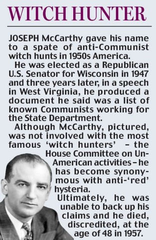 Senator Joseph Mccarthy, Mccarthyism, and the Witch Hunt