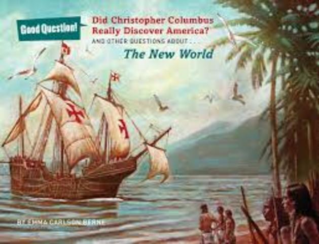 Columbus discovers the new world