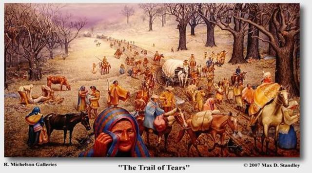 Trail of tears date in Australia