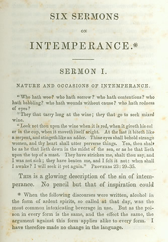 "Lyman Beecher Delivered His ""Six Sermons on Intemperance"""