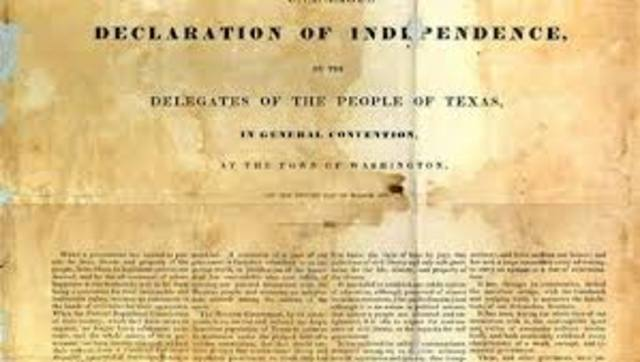 Texas Declared Independence From Mexico