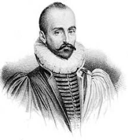 Michel de Montaigne 1533-1592